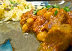 Moroccan Lamb, Apricot and Chickpea Tagine