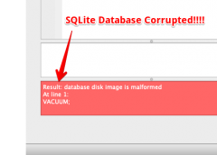 "SQLite – Fix for ""Result: database disk image is malformed"""