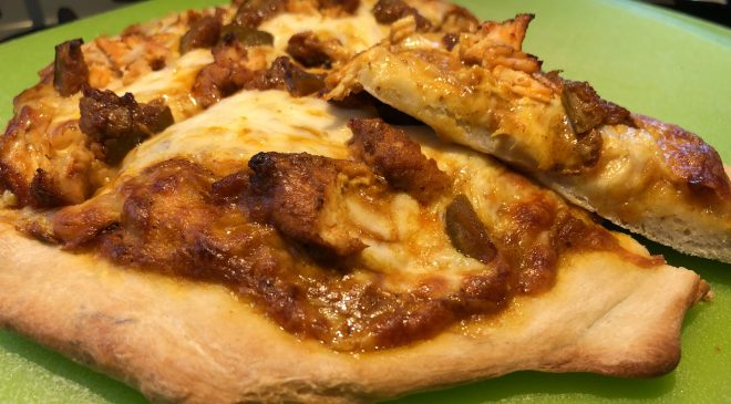 Butter Chicken Personal Pizza with Mango Pickle